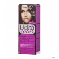 """Краска стойкая с витаминами для волос """"Belita сolor"""" № 6.65 Гранатово-красный"""