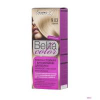 """Краска стойкая с витаминами для волос """"Belita сolor"""" № 9.03 Саванна"""