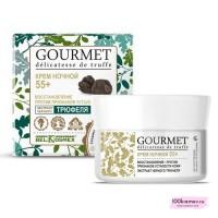 Крем ночной 55+ восстановление против признаков усталости кожи экстракт черного трюфеля GOURMET