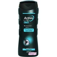 """Гель для мытья тела и волос МОРСКОЙ БРИЗ для мужчин """"ACTIVE LIFE"""" 250 мл"""