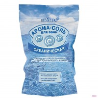 Арома-соль для ванн ОКЕАНИЧЕСКАЯ с экстрактом морской водоросли ламинарии и эфирным маслом лимона 500г