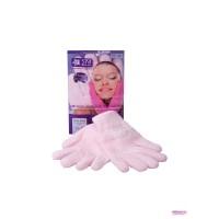 Увлажняющие гелевые перчатки с лавандой SPA Belle,  цвет розовый