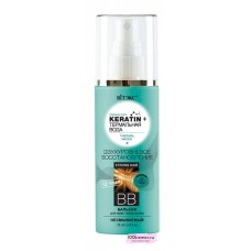 """KERATIN&ТЕРМ вода ВВ бальзам для всех типов волос """"Двухуровневое восстановление""""несмываемый,75 мл"""